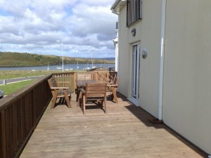Decking facing Church Strand Harbour