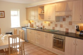 Modern fitted kitchen dining room